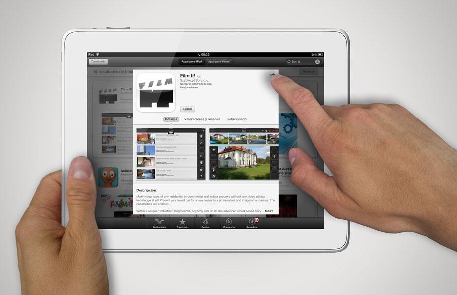 film it ipad app button design